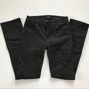 J Brand Jeans - J Brand Black 23105 MID-RISE STRAIGHT IN VANITY